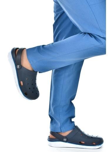 Gezer Gezer Eva 12471 Hastane Orto pedik Erkek Sandalet Terlik Lacivert